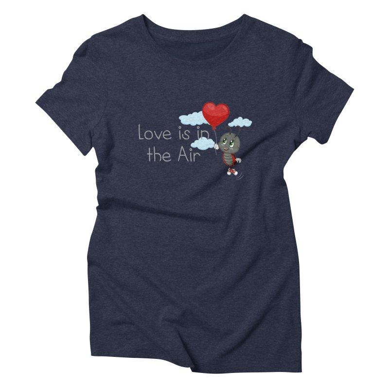 Ladybug Love is in the Air Women's Triblend T-Shirt by BubaMara's Artist Shop