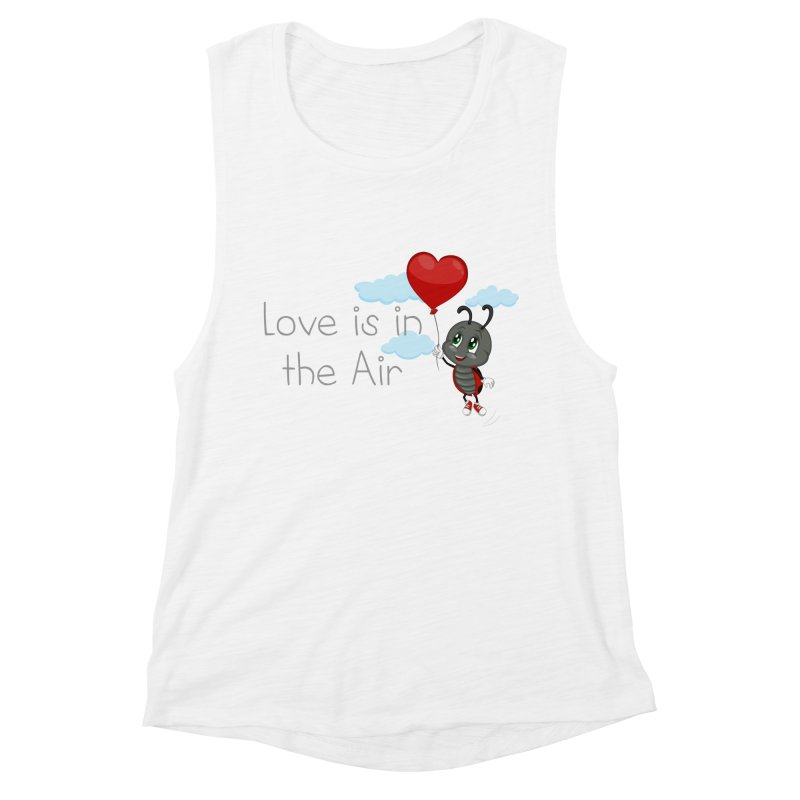 Ladybug Love is in the Air Women's Muscle Tank by BubaMara's Artist Shop