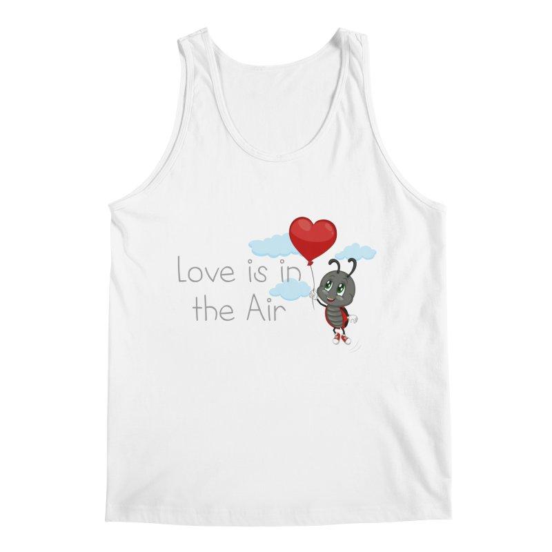 Ladybug Love is in the Air Men's Regular Tank by BubaMara's Artist Shop