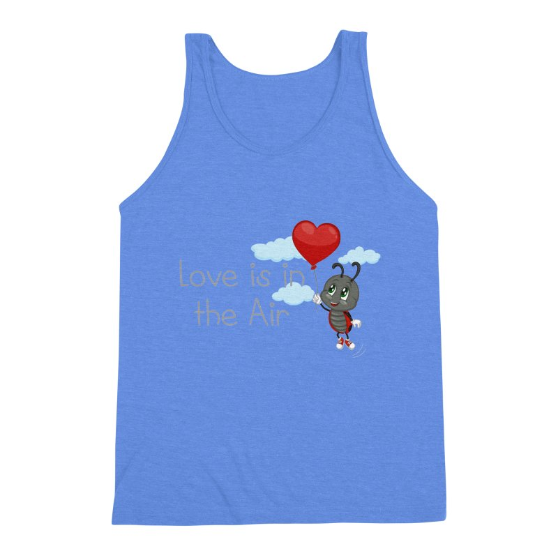 Ladybug Love is in the Air Men's Triblend Tank by BubaMara's Artist Shop