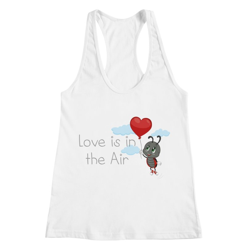 Ladybug Love is in the Air Women's Racerback Tank by BubaMara's Artist Shop