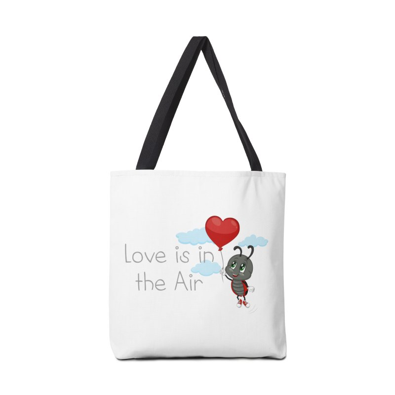 Ladybug Love is in the Air Accessories Tote Bag Bag by BubaMara's Artist Shop