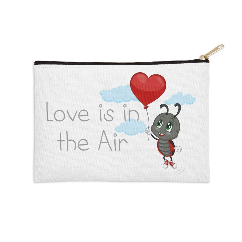 Ladybug Love is in the Air Accessories Zip Pouch by BubaMara's Artist Shop