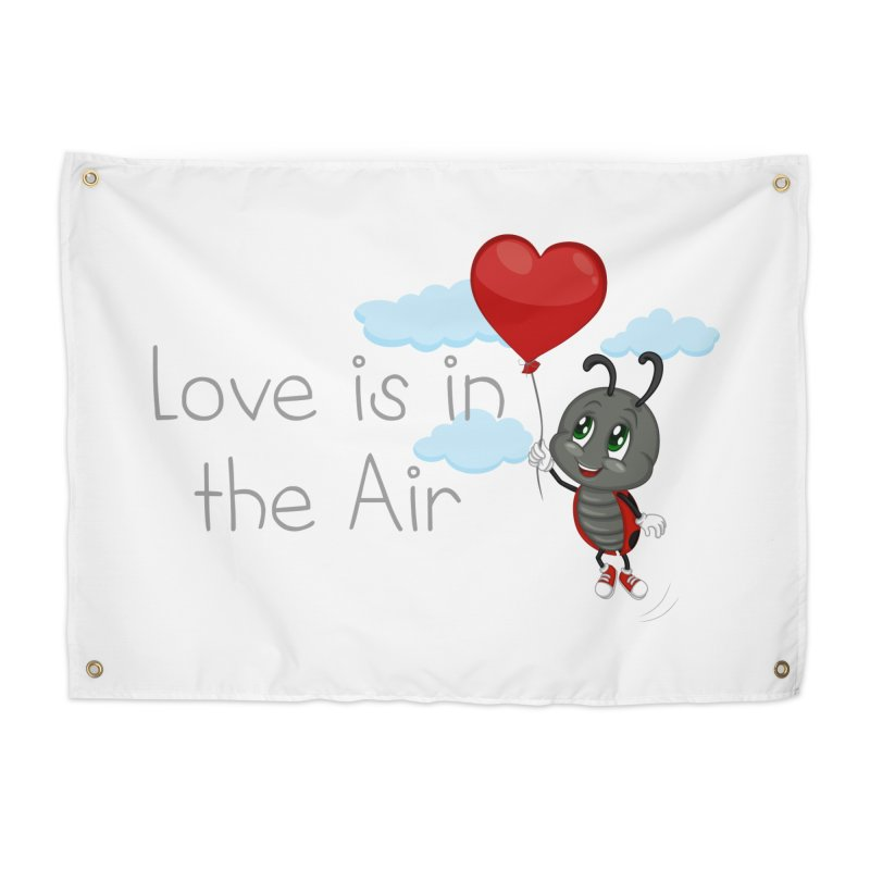 Ladybug Love is in the Air Home Tapestry by BubaMara's Artist Shop