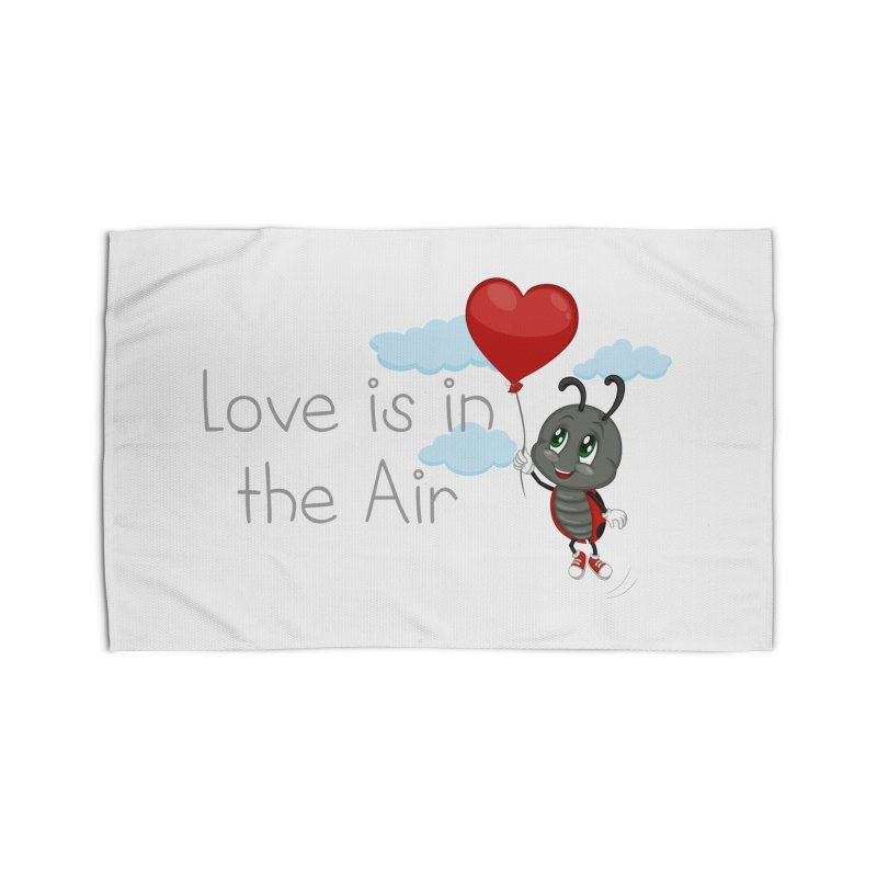 Ladybug Love is in the Air Home Rug by BubaMara's Artist Shop