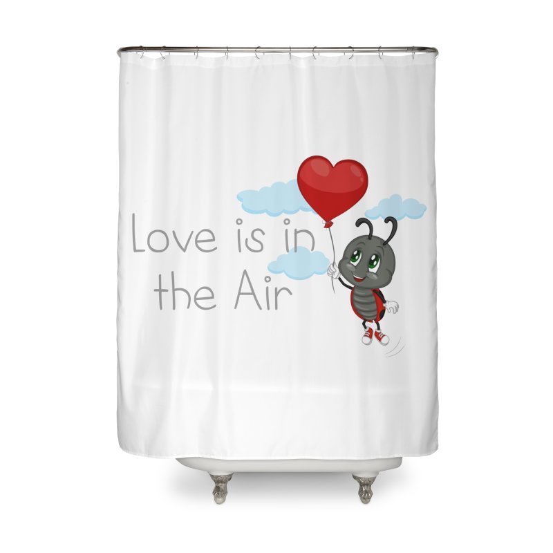 Ladybug Love is in the Air Home Shower Curtain by BubaMara's Artist Shop