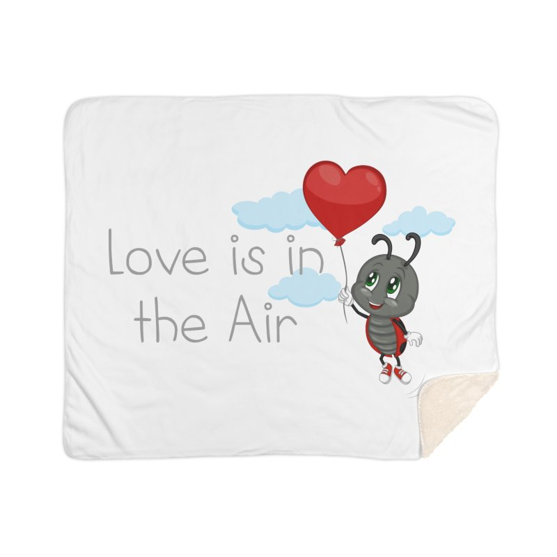 Ladybug Love is in the Air Home Sherpa Blanket Blanket by BubaMara's Artist Shop