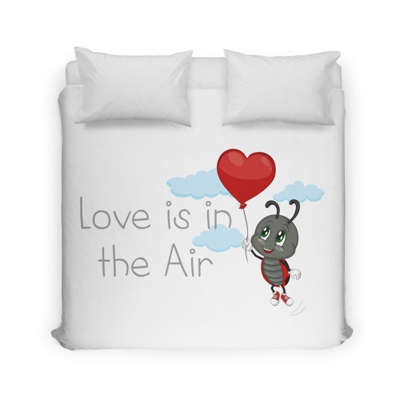 Ladybug Love is in the Air Home Duvet by BubaMara's Artist Shop