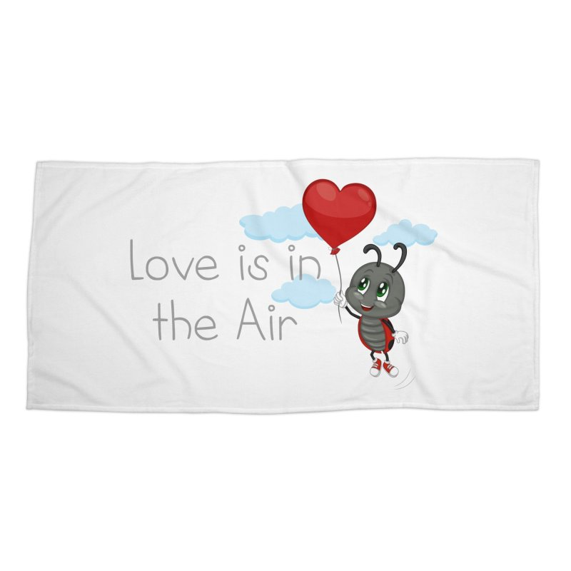 Ladybug Love is in the Air Accessories Beach Towel by BubaMara's Artist Shop
