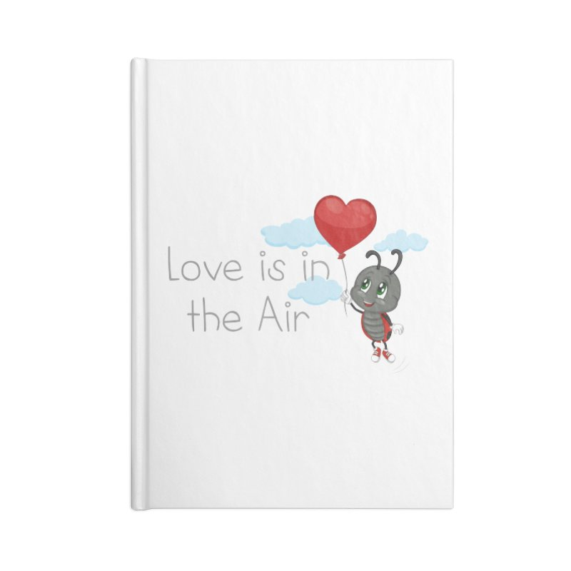Ladybug Love is in the Air Accessories Blank Journal Notebook by BubaMara's Artist Shop