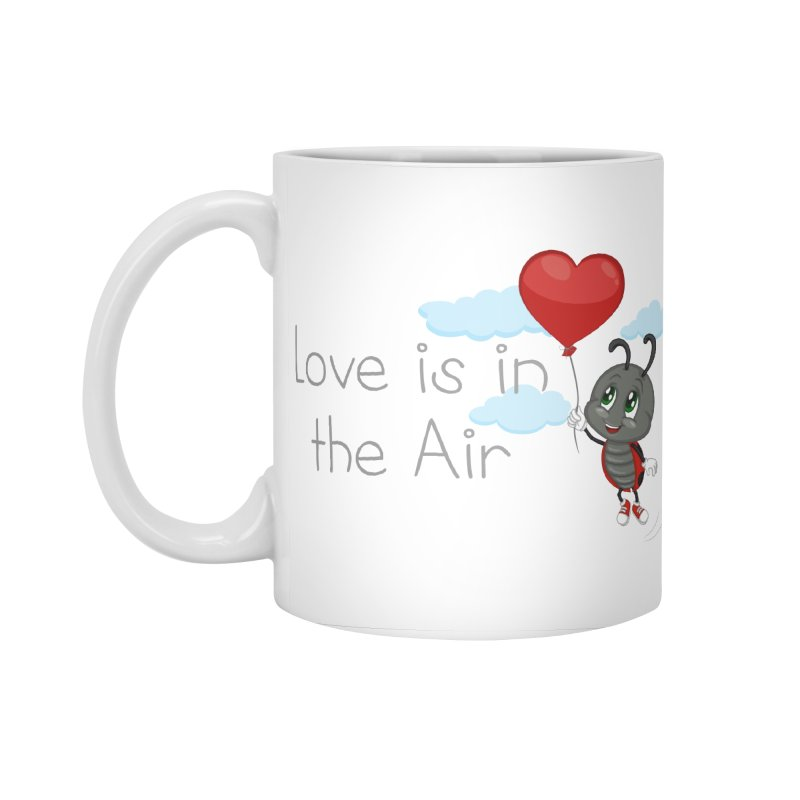 Ladybug Love is in the Air Accessories Standard Mug by BubaMara's Artist Shop