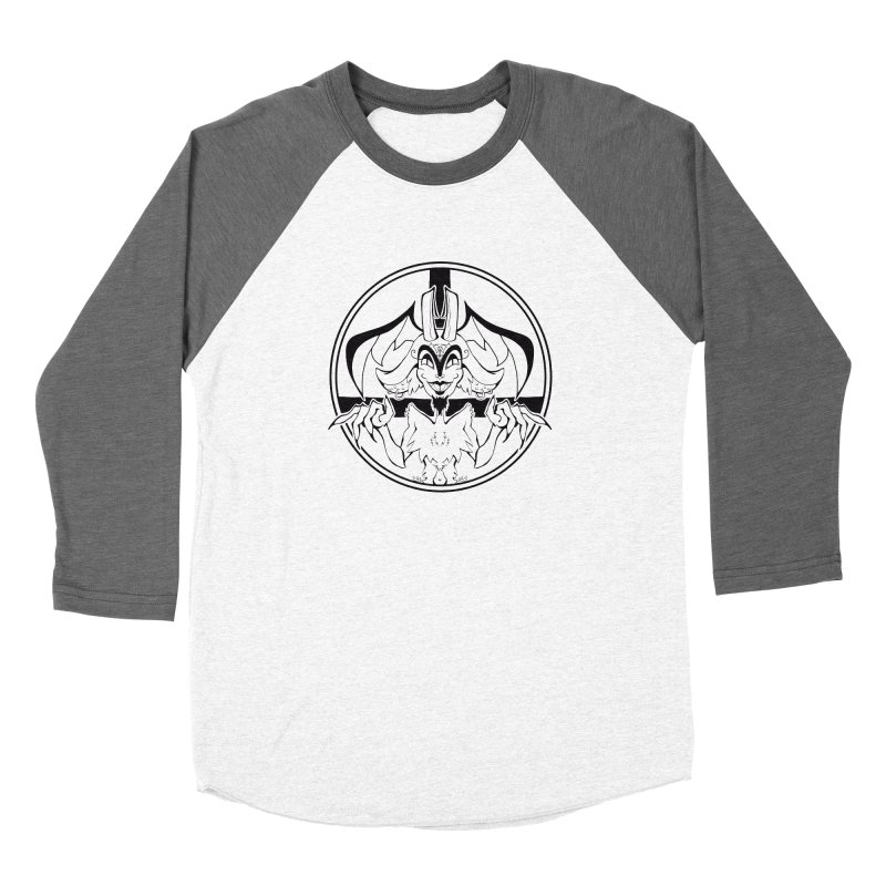 She Devil Women's Baseball Triblend Longsleeve T-Shirt by Lady Katie Sue