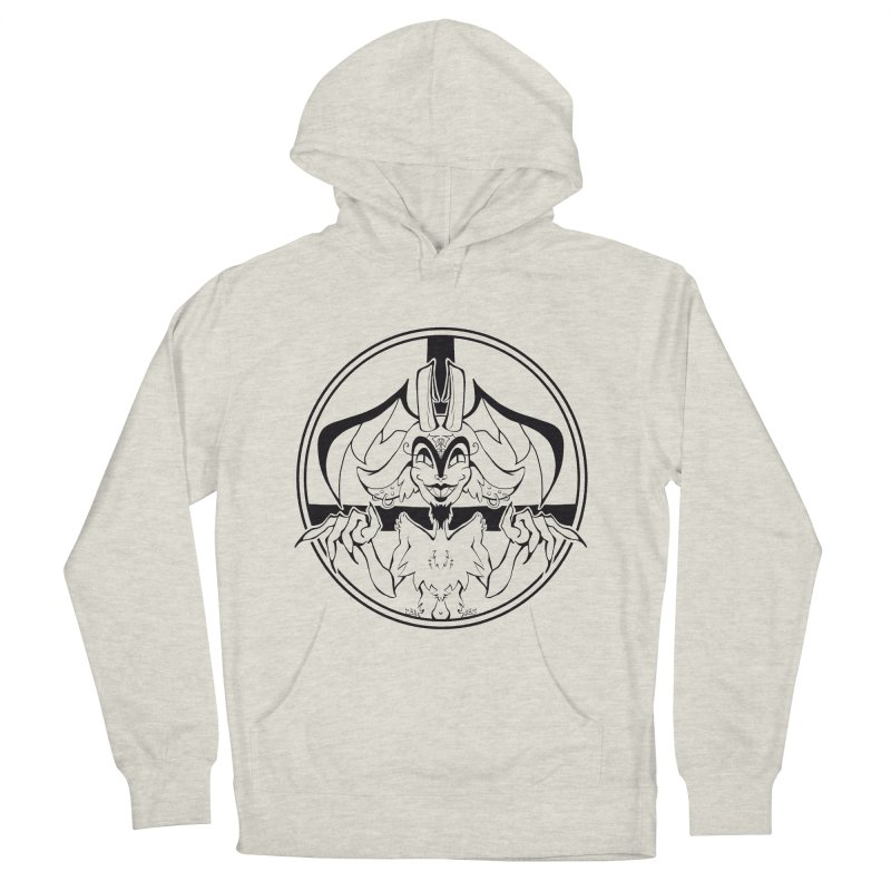 She Devil Men's French Terry Pullover Hoody by Lady Katie Sue
