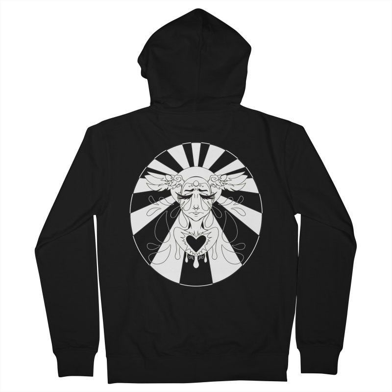 Crybaby Men's Zip-Up Hoody by Lady Katie Sue