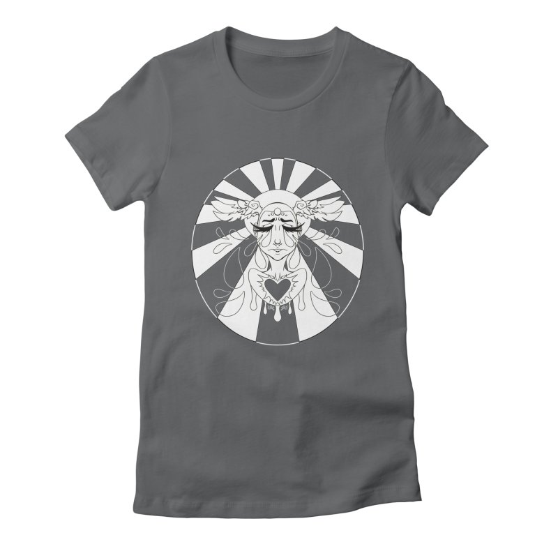 Crybaby Women's Fitted T-Shirt by Lady Katie Sue