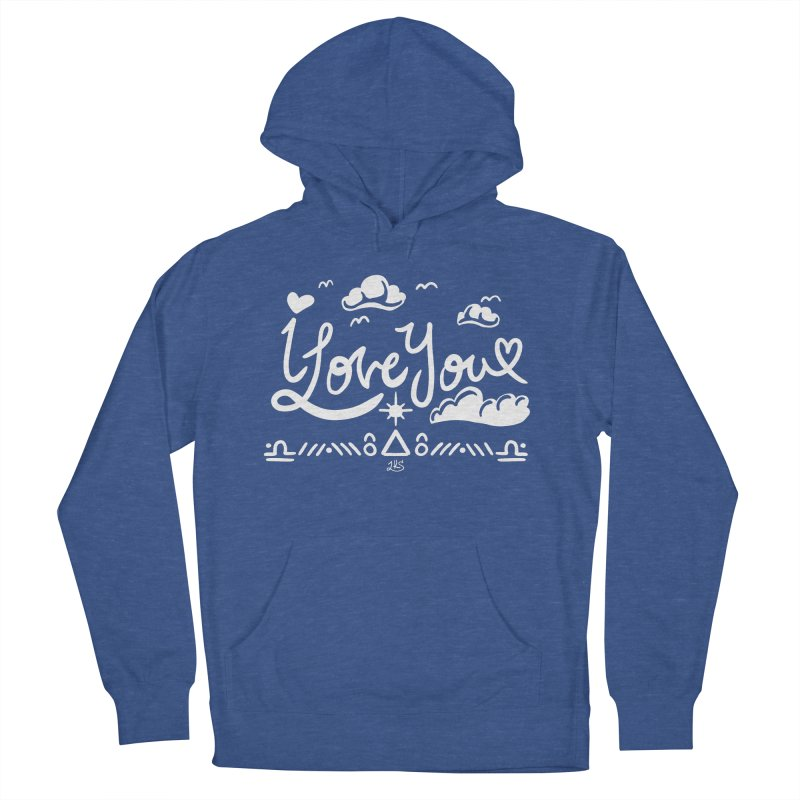 I Love You Men's French Terry Pullover Hoody by Lady Katie Sue