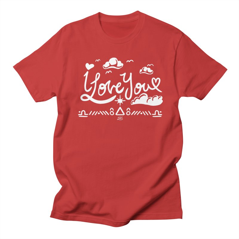 I Love You Men's T-Shirt by Lady Katie Sue