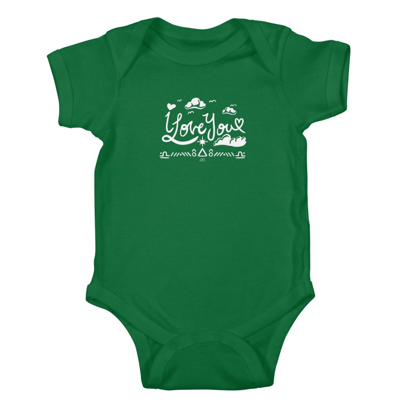I Love You Kids Baby Bodysuit by Lady Katie Sue
