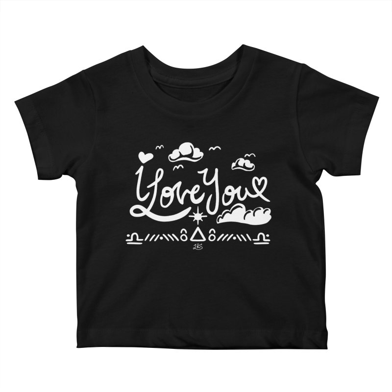 I Love You Kids Baby T-Shirt by Lady Katie Sue