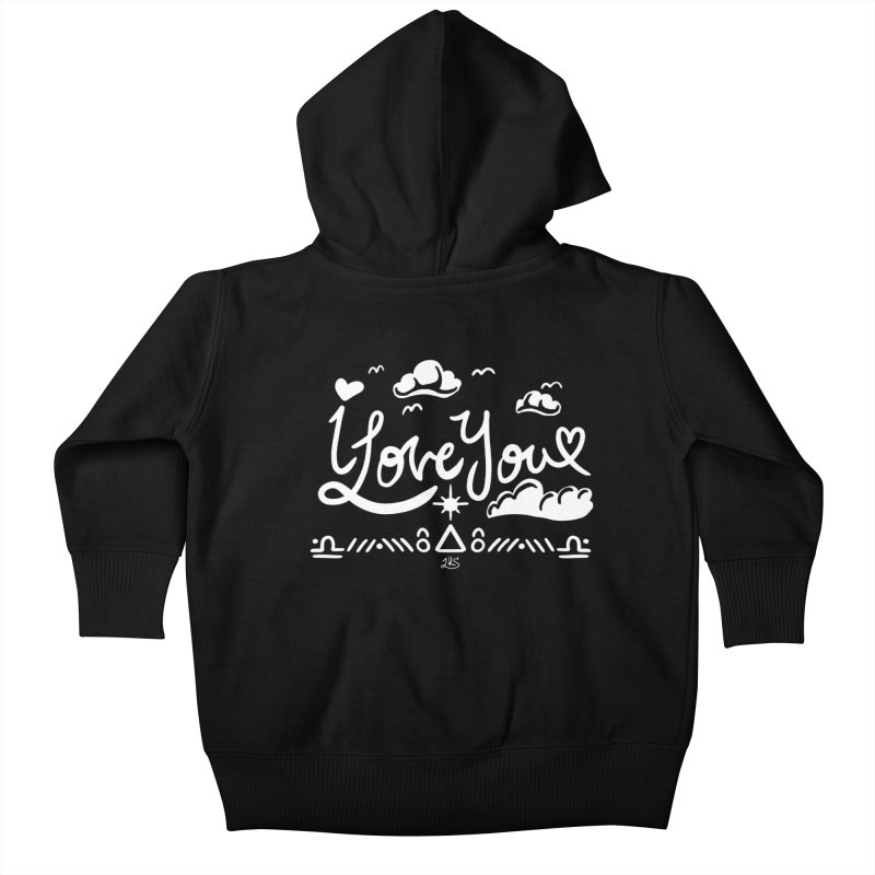 I Love You Kids Baby Zip-Up Hoody by Lady Katie Sue