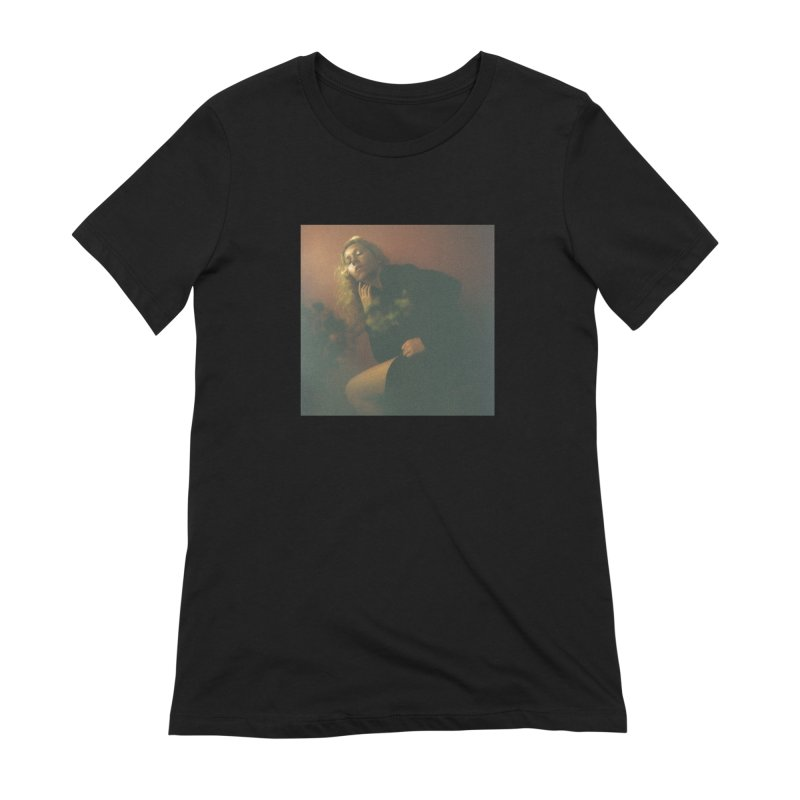 Lady Lazarus with Dying Roses Women's Extra Soft T-Shirt by LADY LAZARUS (OFFICIAL MERCH SHOP)