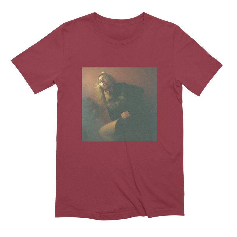 Lady Lazarus with Dying Roses Men's Extra Soft T-Shirt by LADY LAZARUS (OFFICIAL MERCH SHOP)
