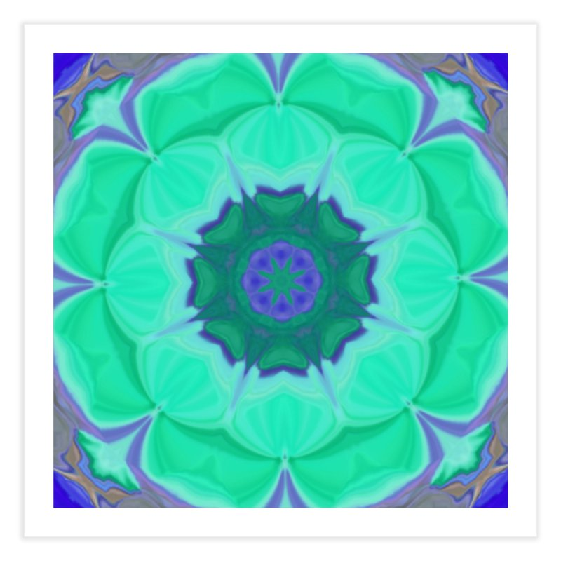 Flower Power Home Fine Art Print by Lady Ls Designs Artist Shop