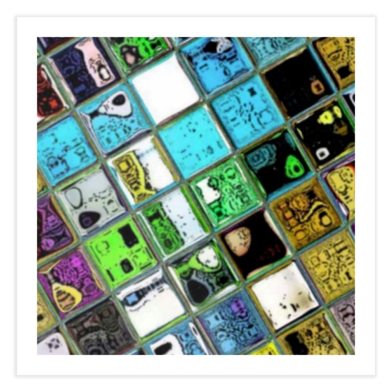 Crazy Colorful T. Home Fine Art Print by Lady Ls Designs Artist Shop