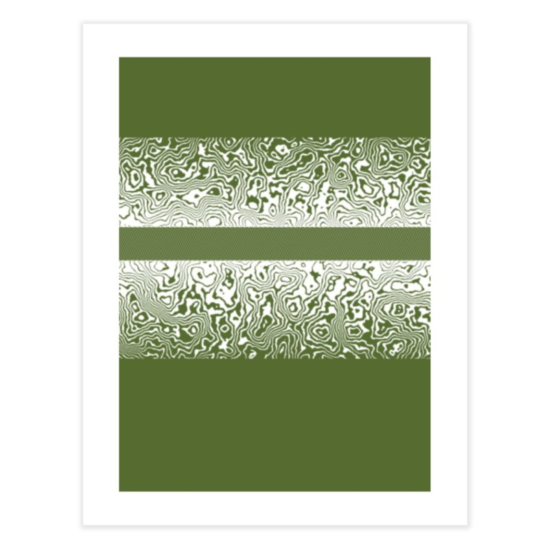 Olive Green Shadows Home Fine Art Print by Lady Ls Designs Artist Shop