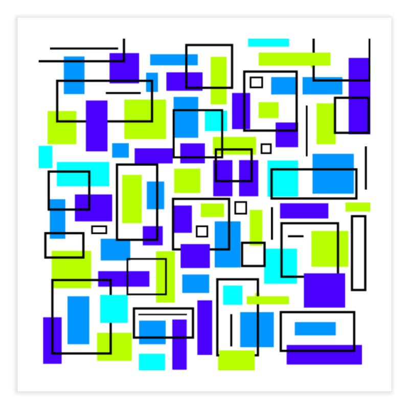 All Squared Away Home Fine Art Print by Lady Ls Designs Artist Shop