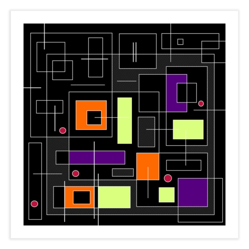 All Squared Up Home Fine Art Print by Lady Ls Designs Artist Shop