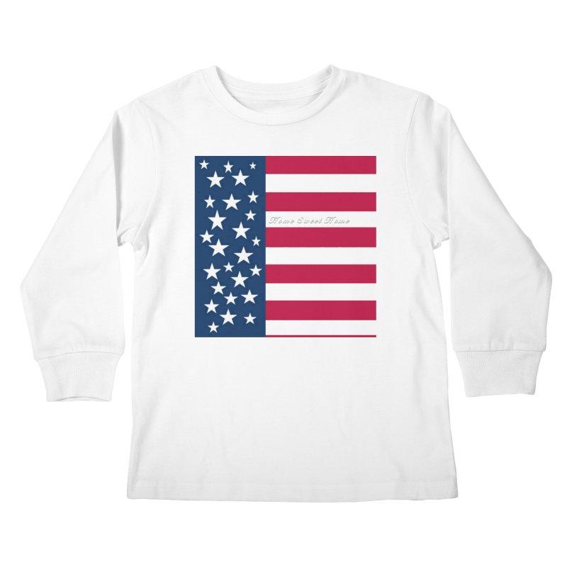 Home Sweet Home Kids Longsleeve T-Shirt by Lady Ls Designs Artist Shop