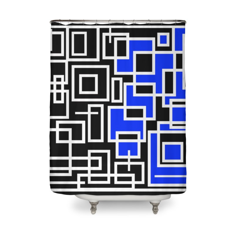 The Other Half Home Shower Curtain by Lady Ls Designs Artist Shop
