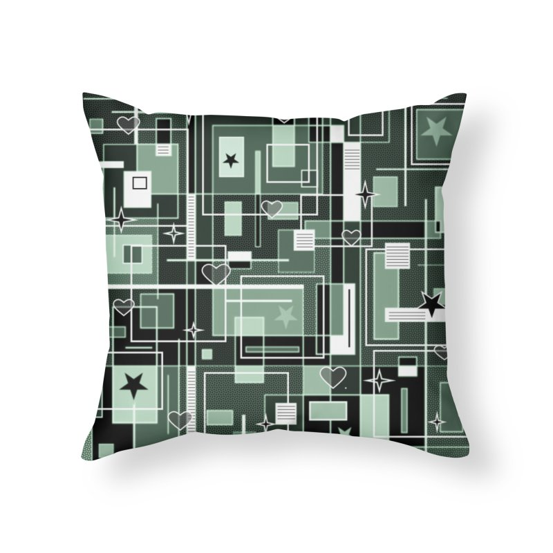 3 Shades of Green Home Throw Pillow by Lady Ls Designs Artist Shop