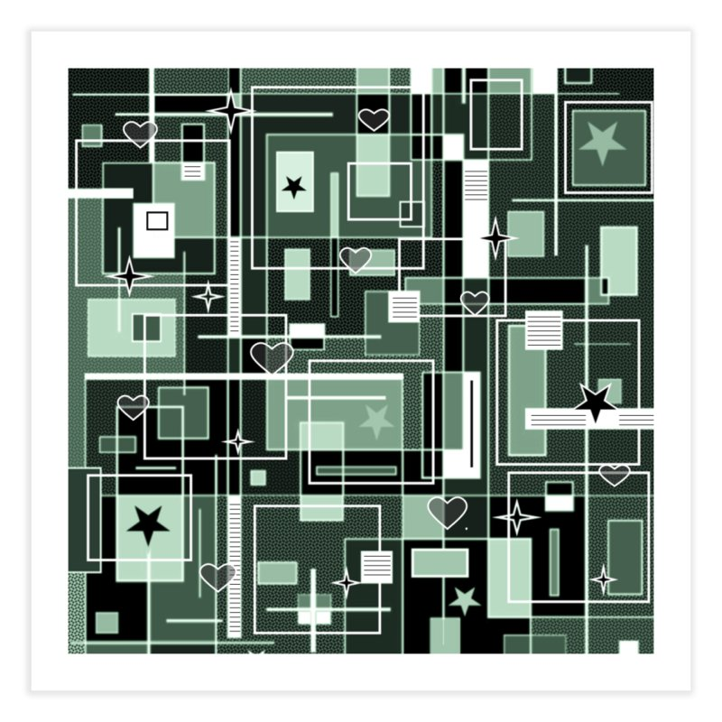 3 Shades of Green Home Fine Art Print by Lady Ls Designs Artist Shop
