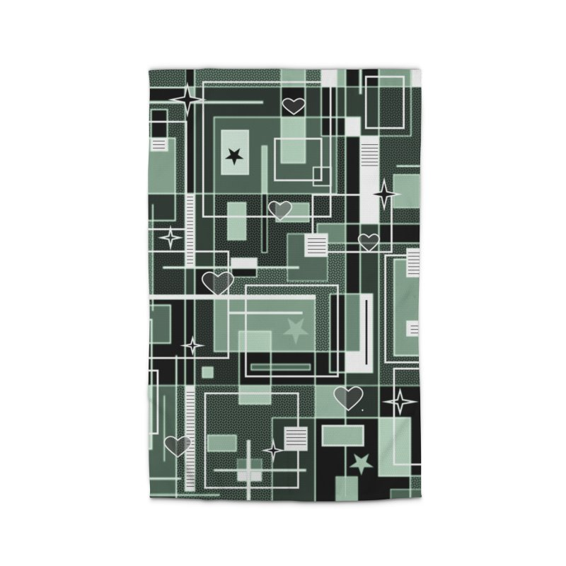 3 Shades of Green Home Rug by Lady Ls Designs Artist Shop