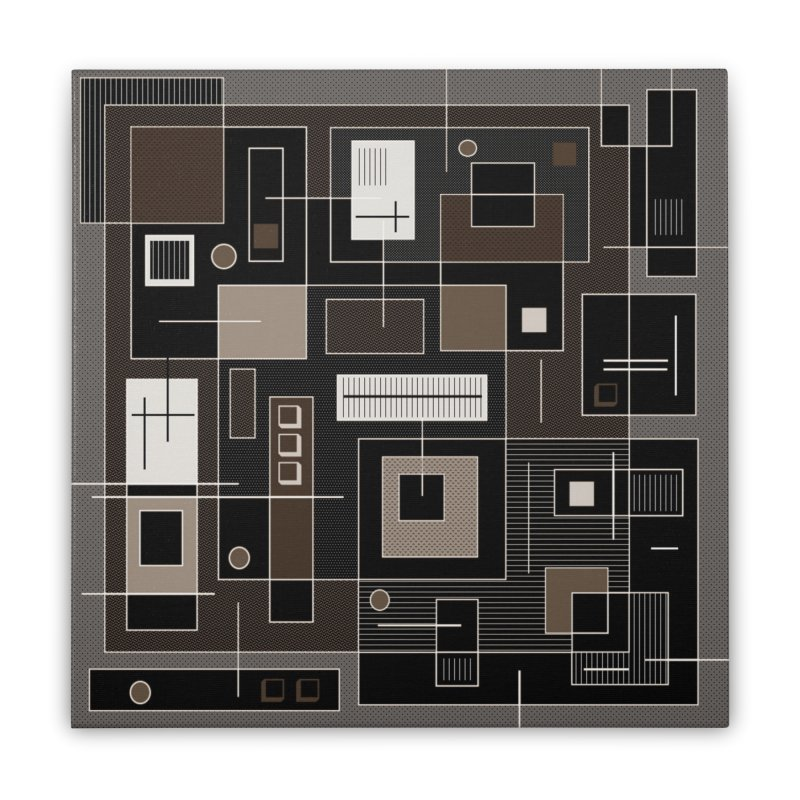 All Square Home Stretched Canvas by Lady Ls Designs Artist Shop