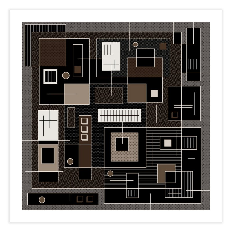 All Square Home Fine Art Print by Lady Ls Designs Artist Shop