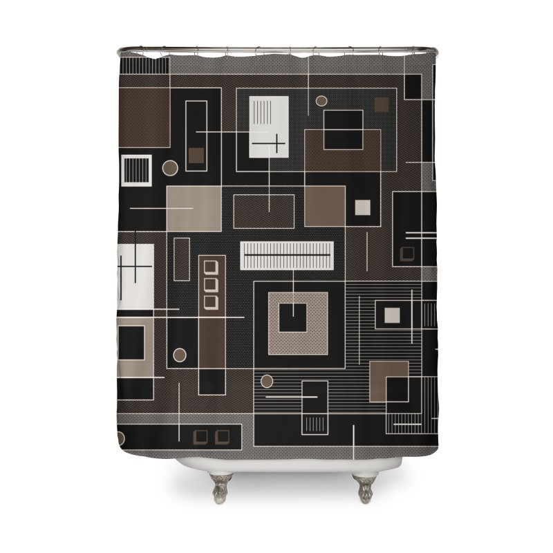 All Square Home Shower Curtain by Lady Ls Designs Artist Shop