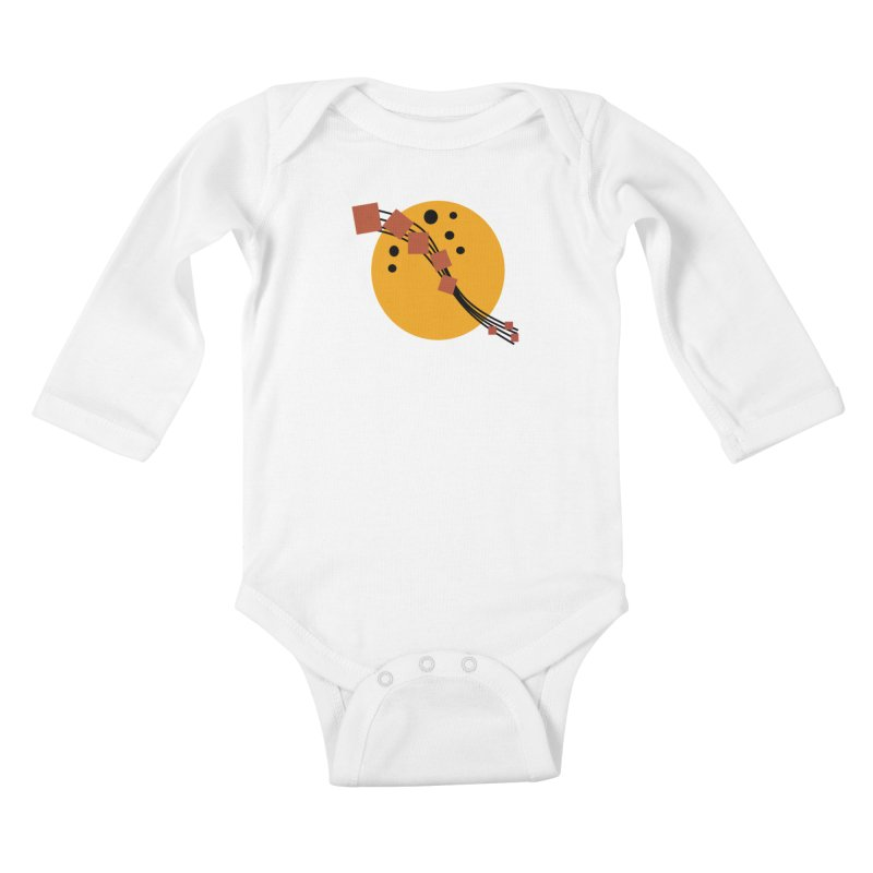 Music Moon Rising Kids Baby Longsleeve Bodysuit by Lady Ls Designs Artist Shop