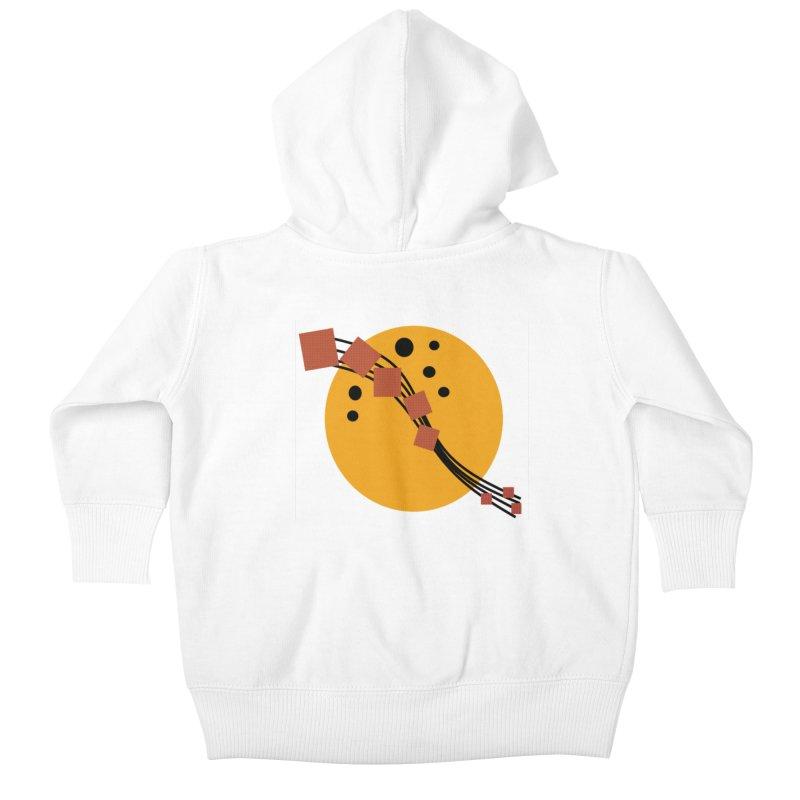 Music Moon Rising Kids Baby Zip-Up Hoody by Lady Ls Designs Artist Shop