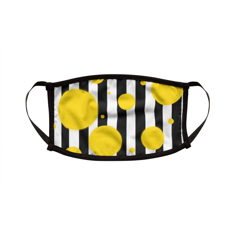 Fun Yellow Dots Accessories Face Mask by Lady Ls Designs Artist Shop