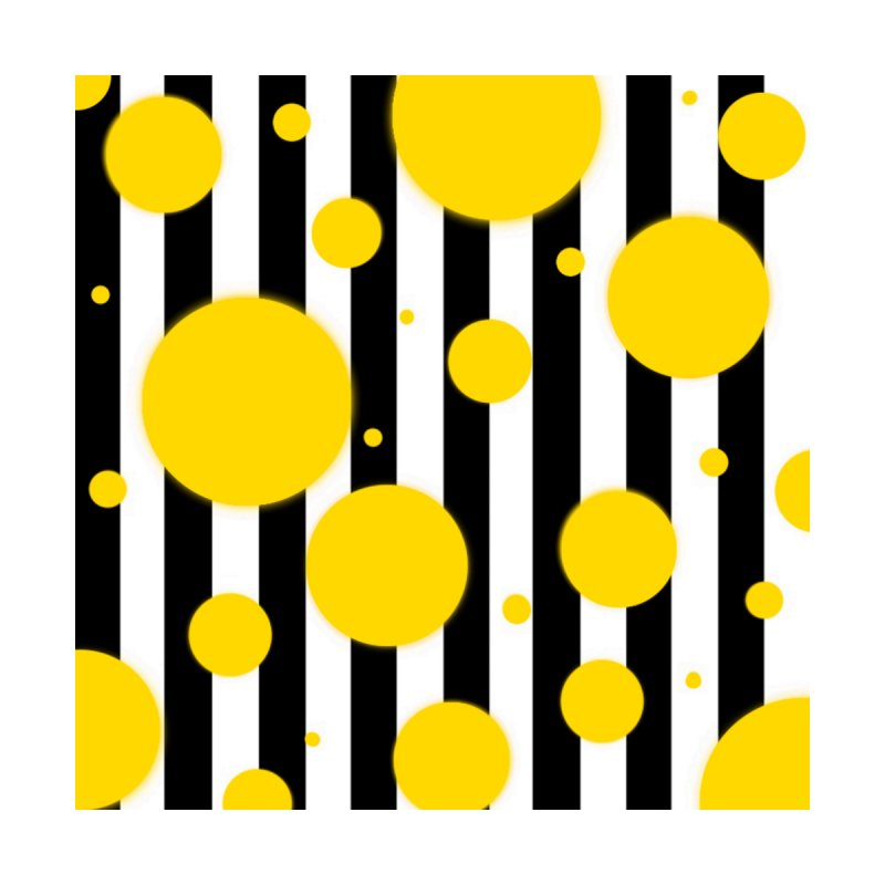 Fun Yellow Dots Home Fine Art Print by Lady Ls Designs Artist Shop