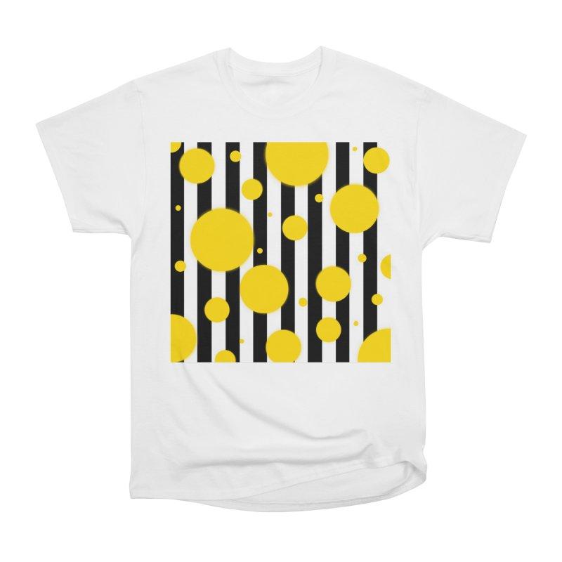 Fun Yellow Dots Men's T-Shirt by Lady Ls Designs Artist Shop