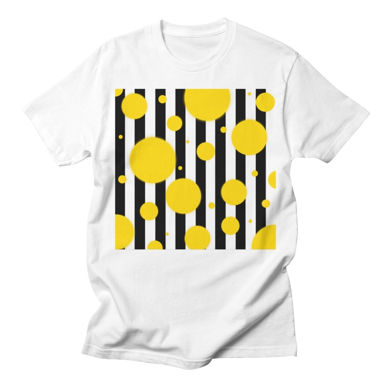 Fun Yellow Dots Men's T-Shirt by Lady Ls Designs Artist Shop
