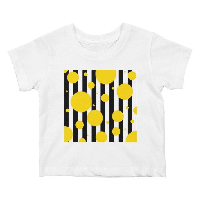 Fun Yellow Dots Kids Baby T-Shirt by Lady Ls Designs Artist Shop