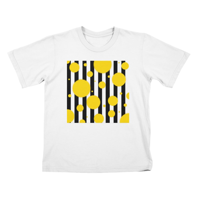 Fun Yellow Dots Kids T-Shirt by Lady Ls Designs Artist Shop