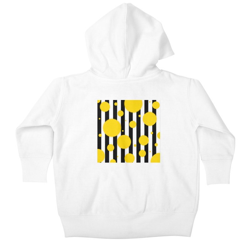 Fun Yellow Dots Kids Baby Zip-Up Hoody by Lady Ls Designs Artist Shop