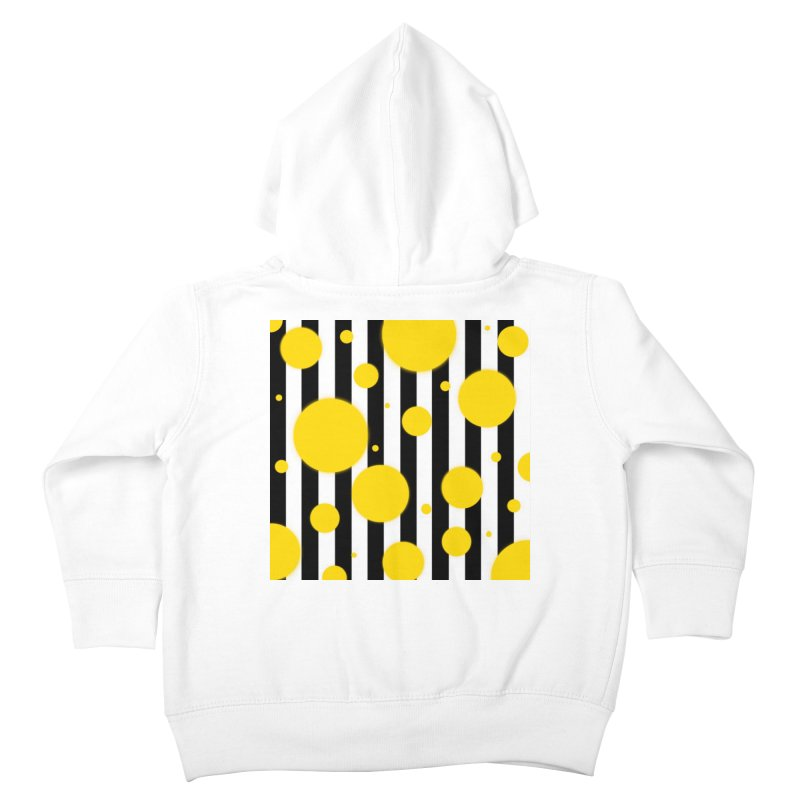Fun Yellow Dots Kids Toddler Zip-Up Hoody by Lady Ls Designs Artist Shop