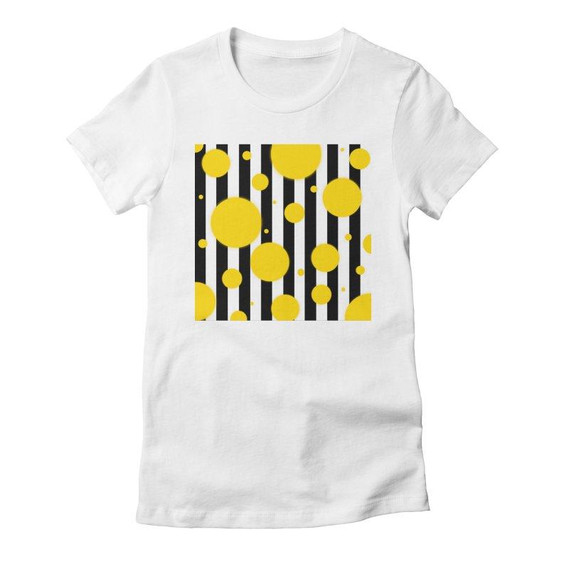 Fun Yellow Dots Women's T-Shirt by Lady Ls Designs Artist Shop